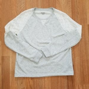 The Children's Place   Gray Lace Sweater   SZ XXL